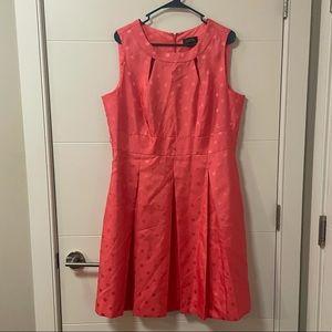 RARE Coral Tahari ASL Fit & Flare Dress